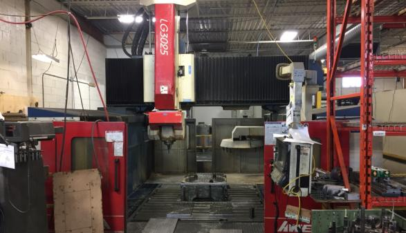 2003 AWEA LG 3025-V gantry type CNC 5 Axis Machining Center