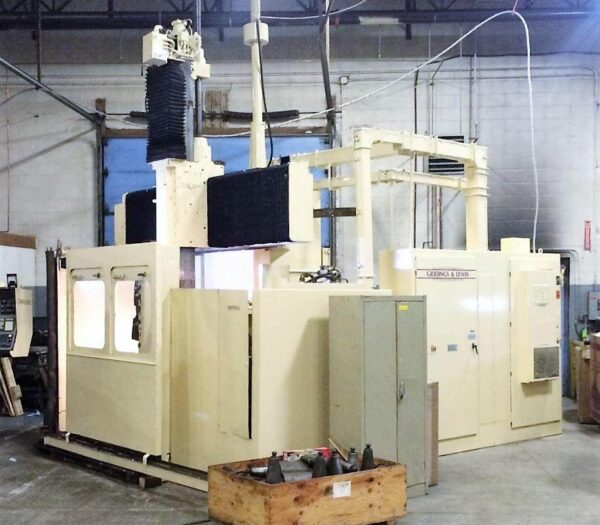 "Giddings & Lewis 42"" CNC Vertical Boring Mill 1"