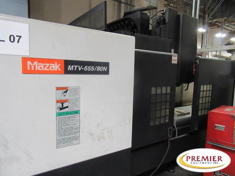 Mazak MTV65580N Used CNC Mill