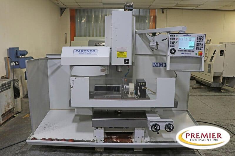 MILLTRONICS MM18 Partner 4-AXIS VERTICAL MACHINING CENTER