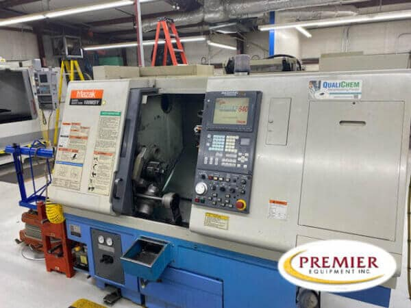 Mazak SQT100MSY CNC Lathe with Live Tooling, Sub-Spindle and Y-Axis