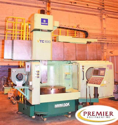 """Hankook VTC-100 39"""" CNC Vertical Turning Center with Milling"""