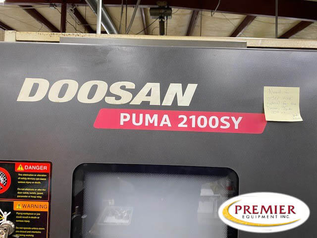 Doosan Puma 2100SY CNC Turning / Milling Center with Y-Axis