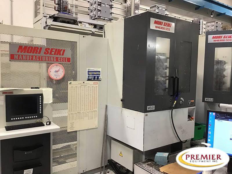 Mori Seiki NH6300DCG with 32 Cell Unit CNC Horizontal Machining Center