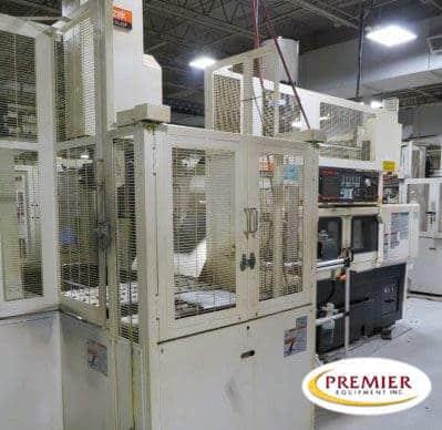 Mazak Multiplex 6100Y with GL-50N Gantry Twin Spindle CNC Lathe & Mill Center